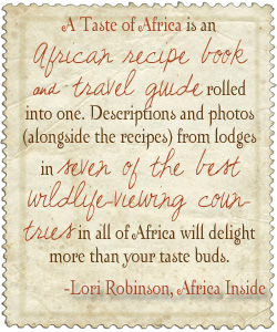 a Taste of Africa Recipe Book